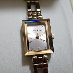 New Anne Klein Silver/Gold Bracelet watch dainty